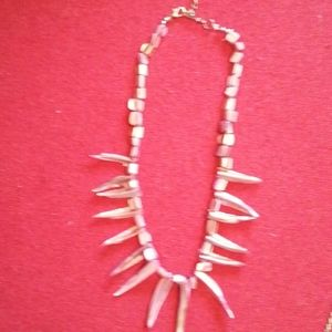 Jewelry - Pink pearly tooth chocker